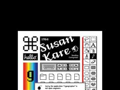 SUSAN KARE - Type Poster on Behance Type Posters, Poster On, Typography Poster, Behance, Graphic Design, Creative, Layout, Verses, Culture