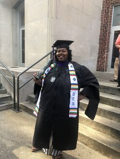 This Sistar shared an image of her wearing our OES Kente Stole on her graduation day. You're look great sis and congrats on your graduation! #easternstar #oes #graduation #kente #africanfashion...
