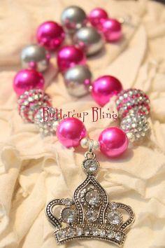 etsy bubblegum necklace for girls | Little Girls Chunky Bubblegum Beaded Necklace - ... | Chunky necklace