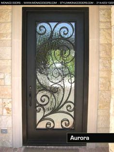 iron front door, Aurora Iron Door - Single Door - Monaco Doors