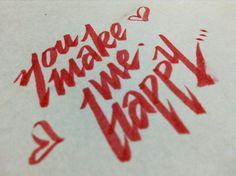 You make my happy