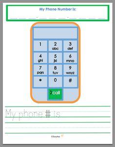 Easybee My Phone Number is- practice sheet