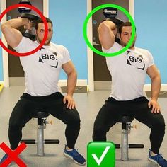 correctnes triceps exercise