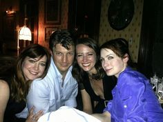 Allison Hannigan, Nathan Fillion, Amy Acker, Felicia Day - So much awesome in one picture :)