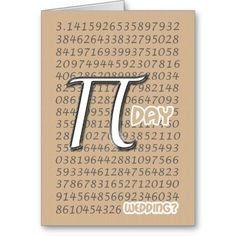 . Pi Day Wedding, Happy Pi Day, Love Math, Save The Date, Getting Married, Anniversary, Invitations, March 14th, Cards