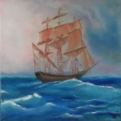 Buy Sailing ship, Oil painting by Silvia Key on Artfinder. Discover thousands of other original paintings, prints, sculptures and photography from independent artists.