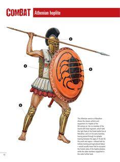 Athenian hoplite. Marathon, 490 bc Persian Warrior, Greek Warrior, Fantasy Warrior, Greek History, European History, Ancient History, American History, Ancient Egyptian Art, Ancient Greece