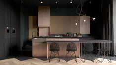 C'est Denis Krasikov, et Cartelle Design qui ont réalisé le projet Copper Field, un aménagement de salon et de cuisine à St Petersbourg. Il est symbolique de l'âme slave, avec son côté …