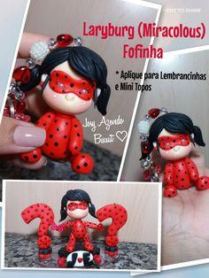 Laryburg (Miracolous) Fofinha - Chaveiros Lembrancinhas Mini Topos