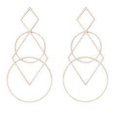 Diamond Geometric Earrings by Diane Kordas