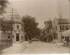 Leesburg early 1900s - King Street and Market Street.  We have had several other posts of this view before, but not this one.