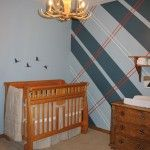 Hunting themed nursery designed by a woman who wanted something rugged and sophisticated.