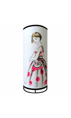 Lampe tube esquisse blanc Marie