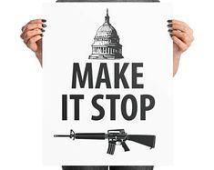 March for our lives Protest Sign file, Gun reform poster Digital Download