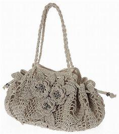 Uncinetto d'oro: La borsa con fiori!