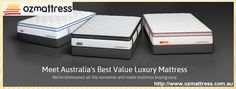 If you wake up in the morning and you feel stiff or groggy, the chances are that you are not getting a good night's sleep. And, this usually occurs when you are sleeping on a poor quality mattress. Time for an upgrade! See the mattresses in Melbourne for sale at Ozmattress.