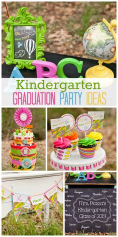 """A colorful and fun kindergarten graduation party with a Dr. Seuss theme """"Oh, The Place You Will Go!"""""""