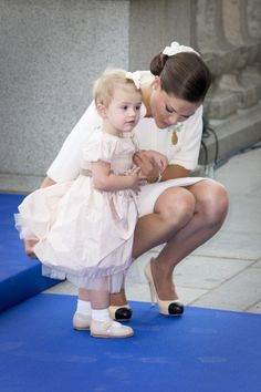 Princess Estelle of Sweden with her mum, Crown Princess Victoria of Sweden on 9/15/2013