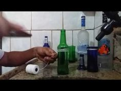 YouTube Glass Cutter, Bottle Art, Home Lighting, Kids And Parenting, Decoupage, Projects To Try, Make It Yourself, Cool Stuff, Simple