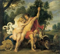Peter Paul Rubens - Venus and Adonis, 1614