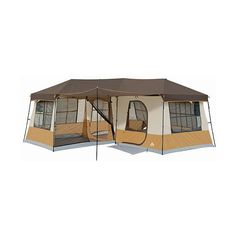 Ozark Trail 12-Person 3-Room Cabin Tent ($249) ❤ liked on Polyvore featuring camping, accessories, home, tent and zombies