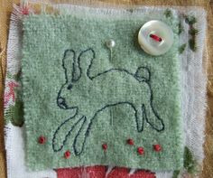 a stitched bunny - something for L. (niminy fingers: Magic Feathers)