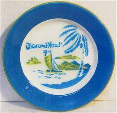 "Jackson China ""Diamond Head"" Plate"