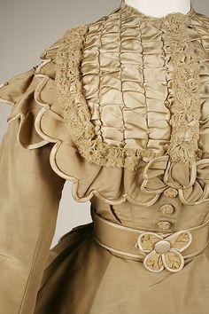Dress (close-up of bodice)  -  1865-69  -  American