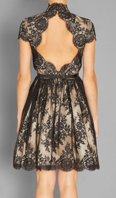 Black Lace Open-back Dress - I don't normally go for lace but I like this.
