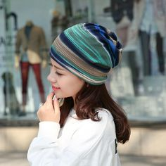 e586210950d7a 2016 korea design 3 Use Hat Knitted Scarf   Winter Hats for Women Striped  Beanies Hip-hot Skullies Girls Gorros lady Beanies