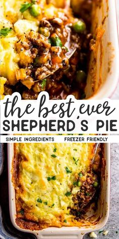 Homemade shepherd's pie is the ultimate comfort food. This simple recipe is made completely from scratch like the traditional, but uses ground beef instead of lamb for a more budget friendly family meal. Filled with healthy vegetables and super comforting Diner Recipes, Cooking Recipes, Recipes Dinner, Dessert Recipes, Recipes For Casseroles, Easy Casserole Recipes For Dinner Beef, Main Meal Recipes, Easy Family Dinner Recipes, Simple Recipes For Dinner