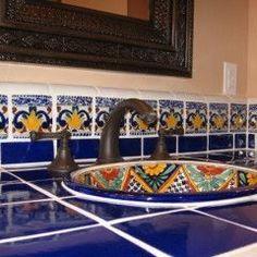 Talavera tiles. Great Mexican colors