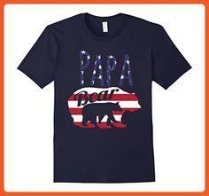 Mens USA American Flag Papa Bear With Cub 4th Of July T shirt XL Navy - Animal shirts (*Partner-Link)