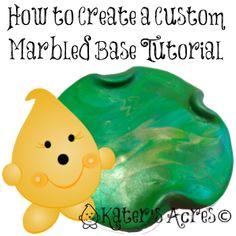 How to Make a Marbled Base for Your Figurines by KatersAcres
