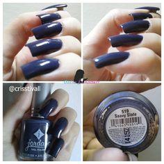 Outro Esmalte?!: Jordana - Saavy Slate Jordana Lipstick, Art Nails, Nail Tips, Slate, Nail Polish, Hacks, Cosmetics, Makeup, Enamels