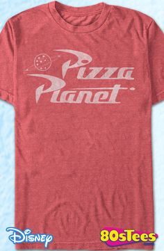 Pizza Planet Toy Story T-Shirt: Toy Story Toy Story Geeks: Enjoy the comfort of home or travel the great outdoors in this men's style shirt that has been designed and illustrated with great art.