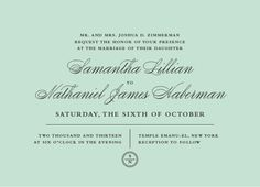 invitations :)