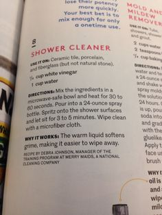 Shower cleaner