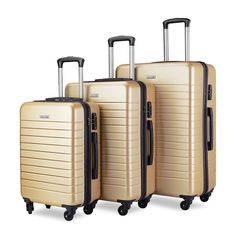 Luggage Sets Spinner Hard Shell Suitcase Lightweight Luggage – 3 Piece (20″ 24″ 28″) – Galaxy