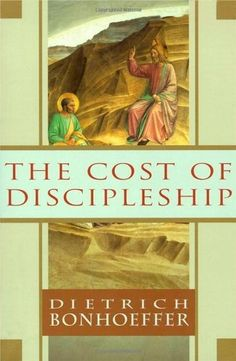 The Cost of Discipleship by Dietrich Bonhoeffer. Not the easiest read but also not too difficult. Bonhoeffer explains why discipleship is a difficult, and yet essential, activity. Why cheap grace is not grace at all and doesn't save. Dietrich Bonhoeffer, Good Books, Books To Read, My Books, Amazing Books, Reading Lists, Book Lists, Reading Room