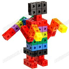 AWESOME Unlimited Creation Cubes 100 Piece Snap Cubes Mathlinks Cubes Unit Cubes Centimeter Cubes Math and Interlocking Building Set - Kids Safe Material! Lab Test Approved with ATC Certificate! Cool Lego, Cool Toys, Cubes Math, Blocks For Toddlers, Cube Pattern, Cube Unit, Therapy Tools, Practical Life, Stem Activities