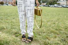 Balenciaga heels / Mark Cross bag