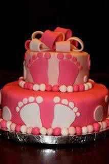 Cute for baby shower cake for girl or boy Pretty Cakes, Cute Cakes, Beautiful Cakes, Amazing Cakes, Girl Shower Cake, Baby Shower Cakes, Baby Cakes, Boy Shower, Girly Cakes