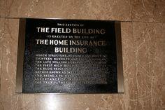 Home Insurance Building Plaque
