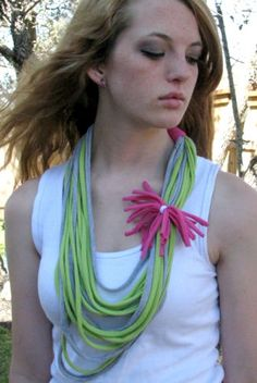 t shirt necklace scarf | shirt scarves