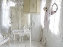 ~○~  Shabby chic, alte Stehlampe  ~○~