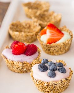 Granola Cups with yogurt and fruit