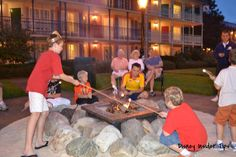 One of the best things about staying at a Disney Resort? Evening campfires roasting marshmallows!