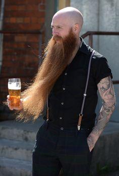 Michael Legge, British Beard Champion and hirsute legend talks to Beardrevered for the Beard Stories series at the Wessex Beardsmen Competition on April in Yeovil. Bald With Beard, Bald Men, Beard Love, Hairy Men, Bearded Men, Perfect Beard, Men Beard, Beards And Mustaches, Moustaches