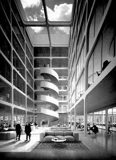 Geistlich Areal | E2A ArchitectsLocation: Schlieren, Switzerland | Restricted Competition. 1st Prize.